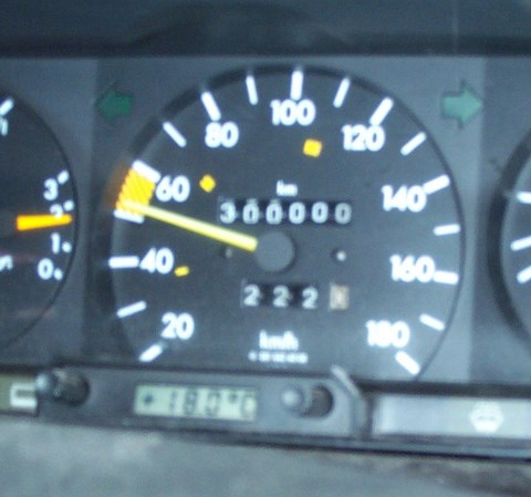 300,000 km on August 21, 2001