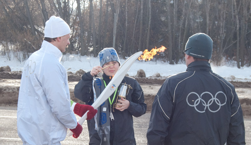 2010 Olympic Torch in Sherwood Park