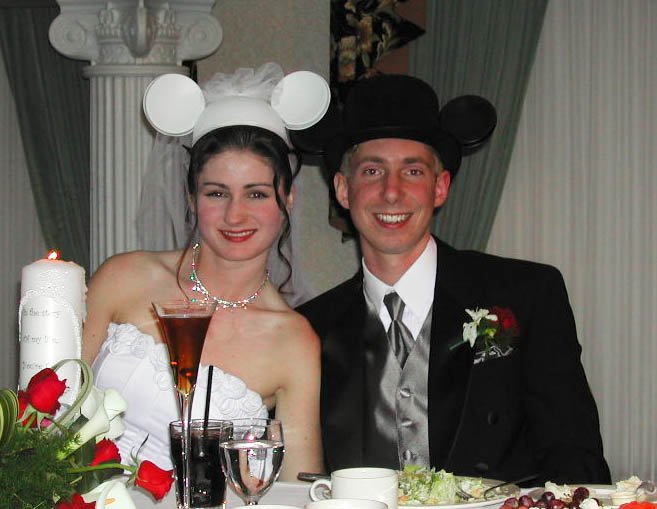 At our Wedding Reception