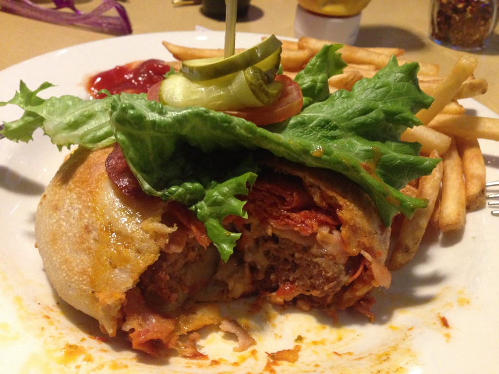 The Boston Pizza PizzaBurger